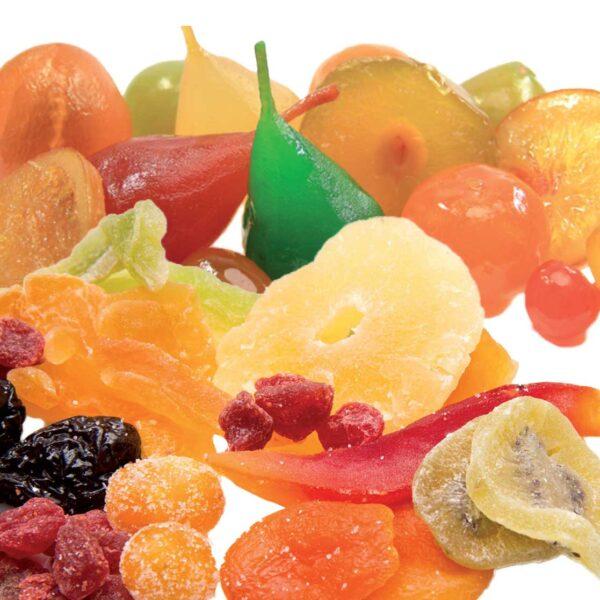 Fruits confits et déshydratés